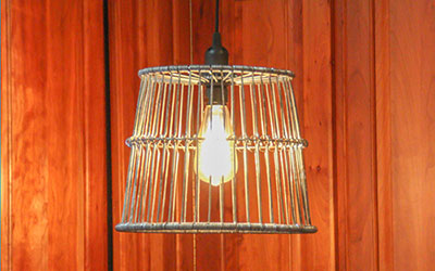 Decor Clam Basket Lantern Light