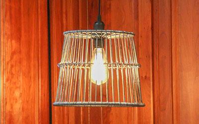 Decor Clam Basket Lantern Light